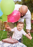 Smiling boy with dad Stock Photography