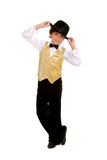 Smiling Boy Dancer. In Top Hat and Costume stock image