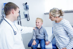 Smiling Boy at the Doctor's Office Stock Photography