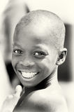 Smiling boy from Ghana with white teeth Stock Images
