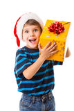 Smiling boy with gift box Royalty Free Stock Image