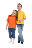 Smiling boy and girl Royalty Free Stock Photos