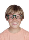 Smiling boy with glasses Royalty Free Stock Image