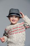 Smiling boy in hat Stock Images