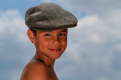 Smiling Boy With Hat royalty free stock image