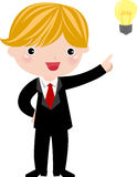 Smiling boy have an idea Stock Images