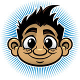 Smiling Boy Head. Vector illustration of a smiling cartoon boy Royalty Free Stock Photography