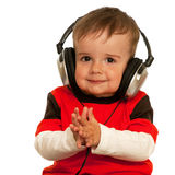 Smiling boy with headphones Royalty Free Stock Photos