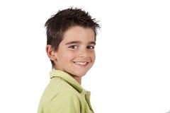 Smiling boy looking at camera royalty free stock photo