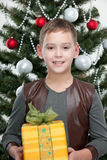 Smiling boy at the new year celebration Stock Image