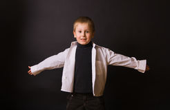 Smiling Boy with Open Arms Stock Photography