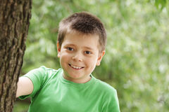 Smiling boy outdoor Stock Image