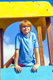 Smiling boy at a playground Royalty Free Stock Photography