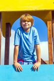 Smiling boy at a playground Royalty Free Stock Photos