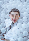 Smiling  boy on the playground. Close-up. Stock Image