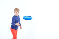 Smiling boy playing game Royalty Free Stock Image