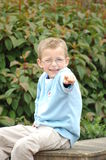 Smiling Boy Pointing Royalty Free Stock Image