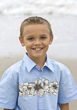 Smiling Boy Portrait. The portrait photo of a handsome young boy with a big grin stock photos