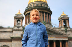 Smiling Boy in Sankt-Petersburg Royalty Free Stock Photo