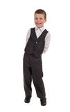 Smiling boy in suit Stock Photography