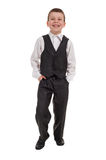 Smiling boy in suit Royalty Free Stock Photo