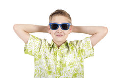 Smiling boy in sunglasses Royalty Free Stock Photos
