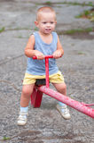 Smiling boy on teeter Royalty Free Stock Images