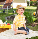 Smiling boy wearing colorful clothes Stock Photos