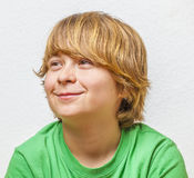 Smiling boy with white background Stock Photo