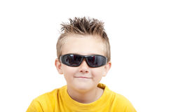 Smiling Boy With Sunglasses Stock Photo