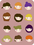 Smiling boys and girls. Illustration of smiling boys and girls Royalty Free Illustration