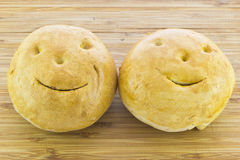 Smiling breads Royalty Free Stock Image
