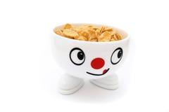 Smiling breakfast Stock Image
