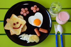 Smiling breakfast Royalty Free Stock Photos