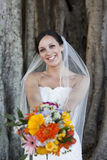 Smiling bride royalty free stock photography