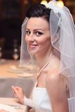 Smiling  bride Stock Images