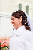 Smiling  bride Stock Photo