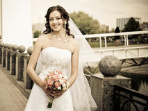 Smiling bride Royalty Free Stock Photo