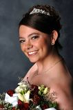 Smiling Bride. A elegant smiling bride posing for her wedding day celebration Stock Photos
