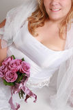Smiling bride with bouquet Royalty Free Stock Images