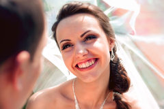 Smiling bride groom Stock Photo