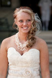Smiling Bride. A bride smiles on her wedding day Royalty Free Stock Image