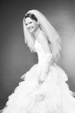 Smiling bride in the studio Stock Image
