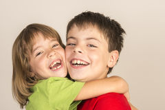Smiling brothers Royalty Free Stock Images