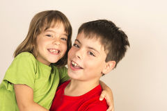 Smiling brothers Royalty Free Stock Image