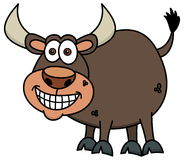 A smiling brown bull Royalty Free Stock Image