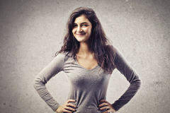 Smiling Brown Girl Royalty Free Stock Images