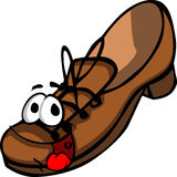 Smiling brown shoe Stock Photography