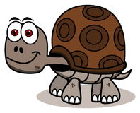 Smiling brown turtle Stock Images