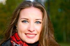 Smiling brunette girl Stock Photos